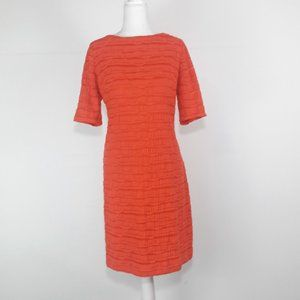 JESSICA HOWARD Short Sleeve Orange Sheath SZ 10